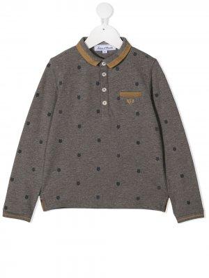 Рубашка поло с принтом Tartine Et Chocolat. Цвет: серый