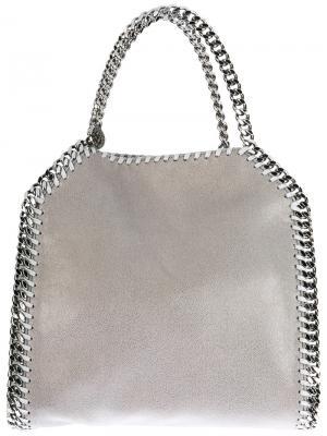 Мини сумка-тоут Falabella Stella McCartney. Цвет: серый