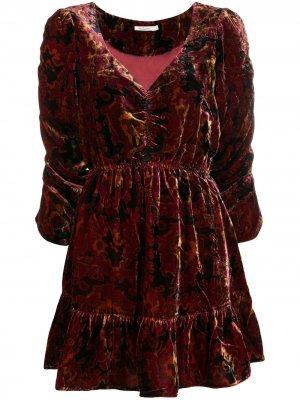 Платье Anatolie со сборками Mes Demoiselles. Цвет: красный