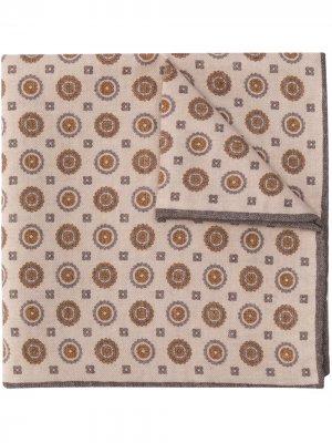 Платок-паше с принтом Eleventy. Цвет: нейтральные цвета