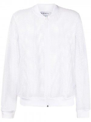 Сетчатая куртка-бомбер Base Koral. Цвет: белый