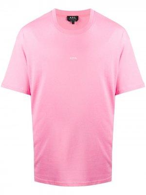 Футболка Kyle с логотипом A.P.C.. Цвет: розовый