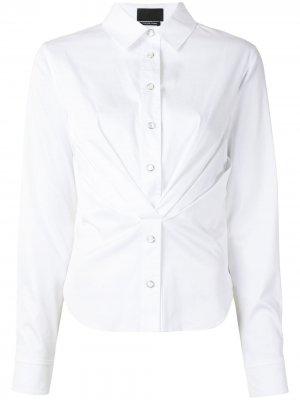 Рубашка Ava со складками RtA. Цвет: белый