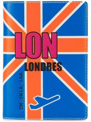Обложка для паспорта Tila March. Цвет: синий