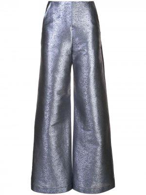 Расклешенные брюки Paula Knorr. Цвет: синий