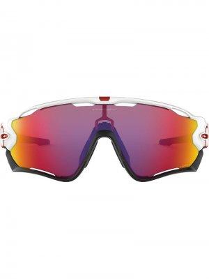 Солнцезащитные очки Flight Jacket Oakley. Цвет: белый