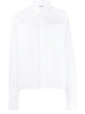 Рубашка с большими карманами Plan C. Цвет: белый