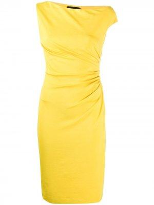 Коктейльное платье со сборками Dsquared2. Цвет: желтый