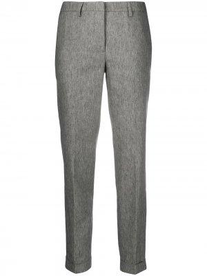 Зауженные брюки строгого кроя Fabiana Filippi. Цвет: серый