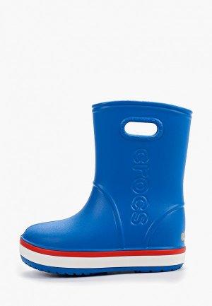 Резиновые сапоги Crocs. Цвет: синий