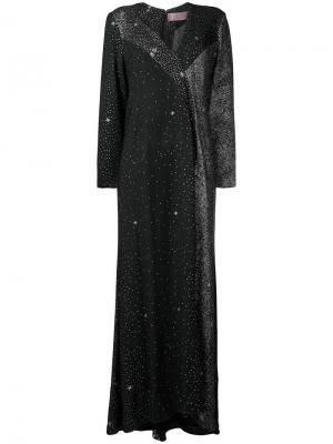 Платье с блестками Christian Lacroix Vintage. Цвет: черный
