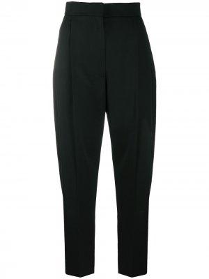 Зауженные брюки с завышенной талией Alexander McQueen. Цвет: черный