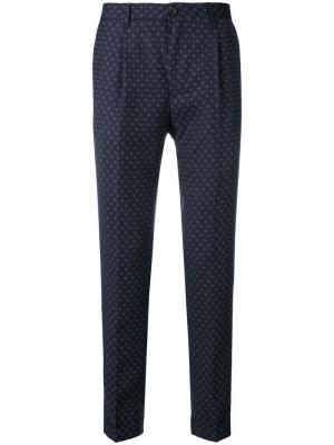 Printed tailored trousers Ps By Paul Smith. Цвет: синий