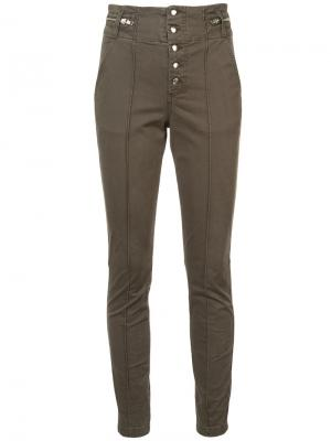 Front button slim trousers A.L.C.. Цвет: зелёный