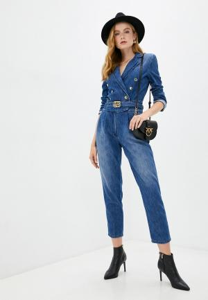 Комбинезон джинсовый Pinko. Цвет: синий