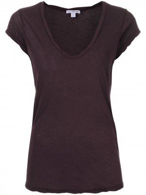 Трикотажная футболка James Perse. Цвет: розовый