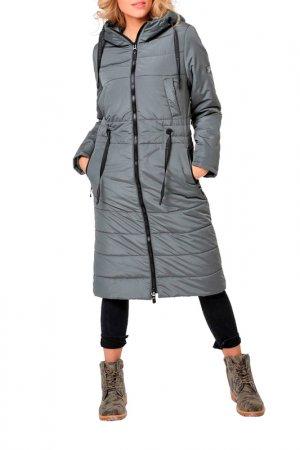 Пальто DizzyWay. Цвет: серо-оливковый