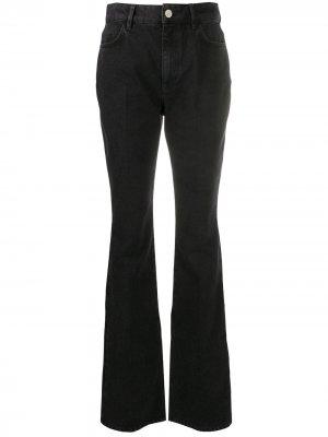 Расклешенные джинсы с завышенной талией The Attico. Цвет: черный