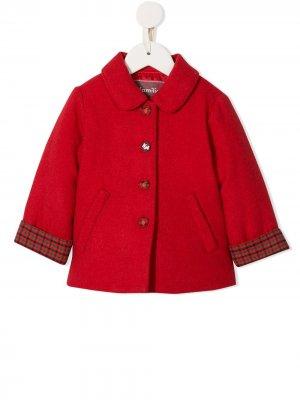 Пальто в клетку Familiar. Цвет: красный