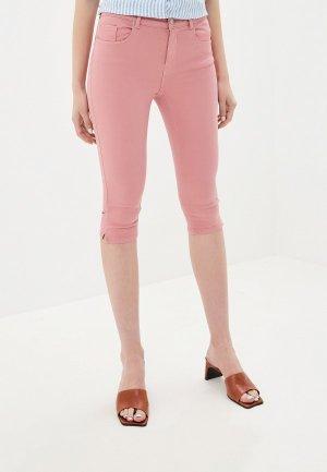 Капри Vero Moda. Цвет: розовый