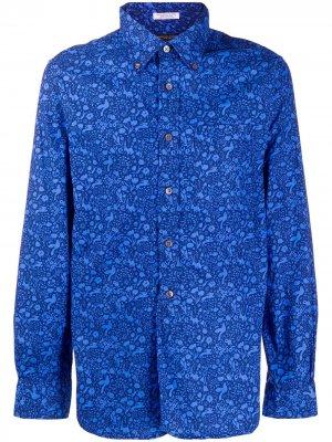 Рубашка с длинными рукавами и принтом Engineered Garments. Цвет: синий