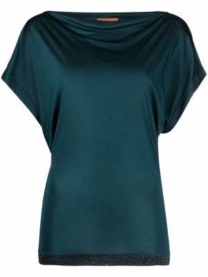 Блузка с драпировкой и блестками Missoni. Цвет: зеленый