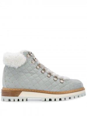 Декорированные ботинки на утолщенной подошве Le Silla. Цвет: серый