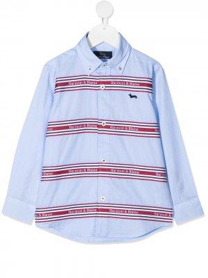 Рубашка на пуговицах с логотипом Harmont & Blaine Junior. Цвет: синий
