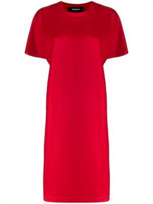 Платье-футболка с короткими рукавами Dsquared2. Цвет: красный