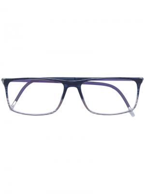 Очки с квадратной оправой Silhouette. Цвет: синий