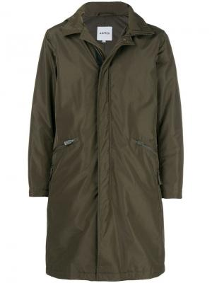Zip pocket hooded coat Aspesi. Цвет: коричневый