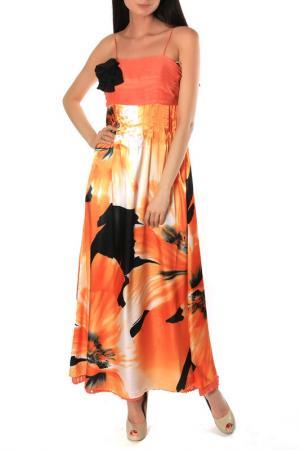Платье Aftershock. Цвет: оранжевый