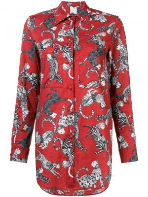 Рубашка с принтом котов Ultràchic. Цвет: красный