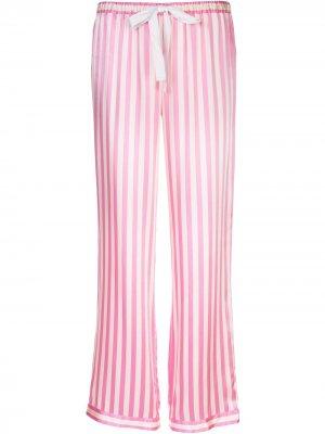 Пижамные брюки Chantal в полоску Morgan Lane. Цвет: розовый