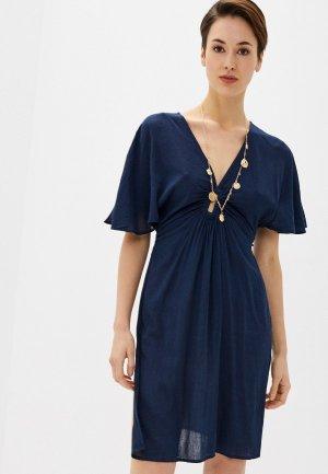 Платье пляжное Marks & Spencer. Цвет: синий