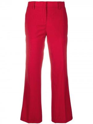 Укороченные расклешенные брюки Nº21. Цвет: красный
