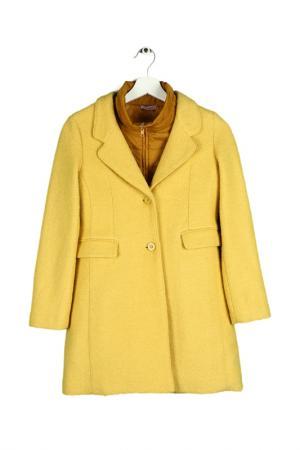Комплект пальто, 2 шт Monnalisa Bimba. Цвет: горчичный