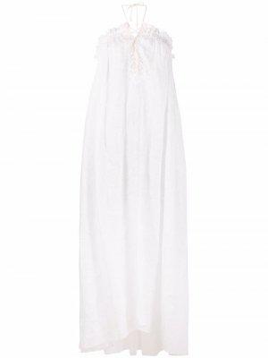 Платье с кружевом Ermanno Scervino. Цвет: белый
