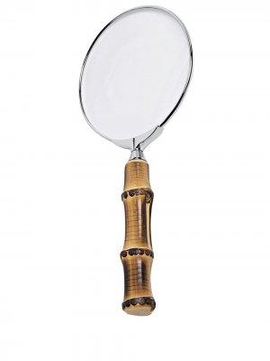 Увеличительное стекло Bamboo Lorenzi Milano. Цвет: коричневый