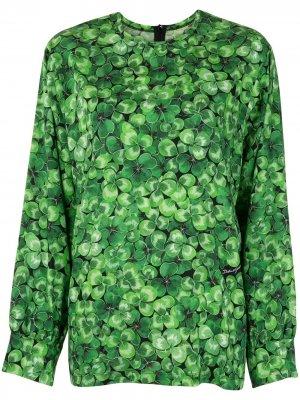 Блузка с принтом Dolce & Gabbana. Цвет: зеленый