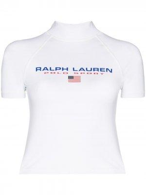 Спортивный топ с логотипом Polo Ralph Lauren. Цвет: белый
