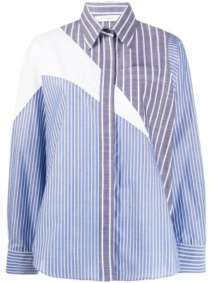 Полосатая рубашка с длинными рукавами Cédric Charlier. Цвет: синий