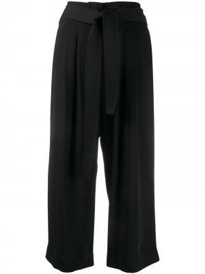 Укороченные брюки с поясом P.A.R.O.S.H.. Цвет: черный
