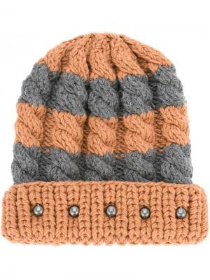 Шапка-бини Telluride 0711. Цвет: коричневый