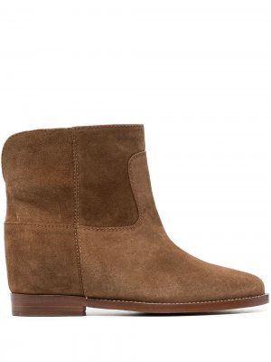 Ботинки с закругленным носком Via Roma 15. Цвет: коричневый