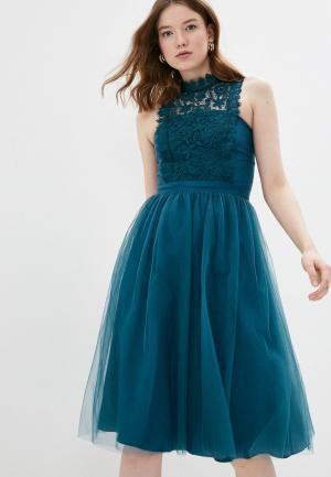 Платье Chi London. Цвет: бирюзовый