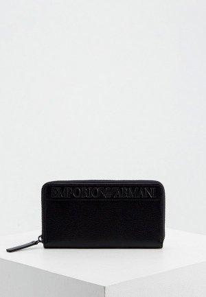 Кошелек Emporio Armani. Цвет: черный