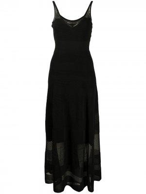 Платье тонкой вязки с прозрачными вставками Roland Mouret. Цвет: черный