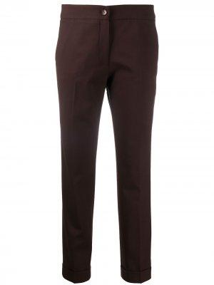 Укороченные брюки кроя слим Etro. Цвет: коричневый