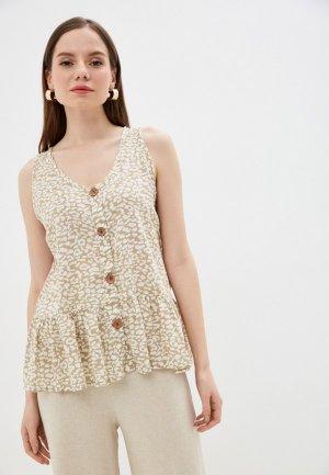 Блуза Baon. Цвет: бежевый